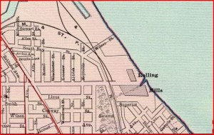 1897 Map showing Wilcox Street